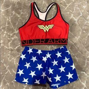 Wonder Woman sports bra & boy shorts